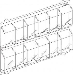 12 Magazine Display Rack 2 Rows of 6