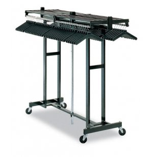 Portable Folding Coat Rack - 72 Hanger Capacity, Black