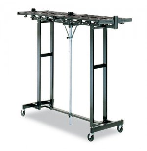 Portable Folding Coat Rack - 120 Hooks, Black