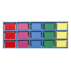 Mahar Colored Plastic Cubby Bin