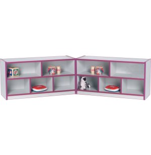 Color-Banded Hinged Daycare Cubbies