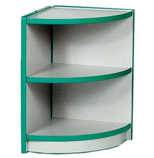 Color-Banded Outside Corner Preschool Cubby Storage