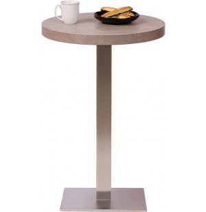 Bar-Height Round Cafe Table - Square Steel Base