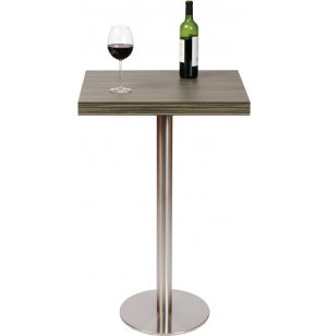 Bar-Height Square Cafe Table - Round Steel Base