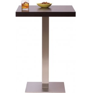 Bar-Height Square Cafe Table - Square Steel Base