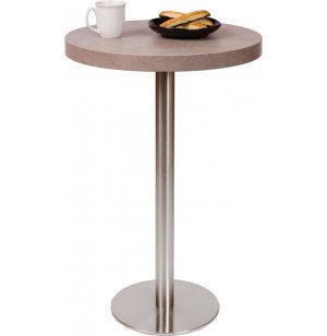 Bar-Height Round Cafe Table - Round Steel Base