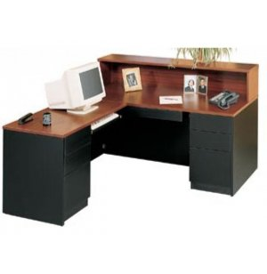 Milan L-Shaped Reception Desk, Left