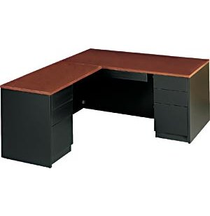 Milan L-Shaped Office Desk, Left