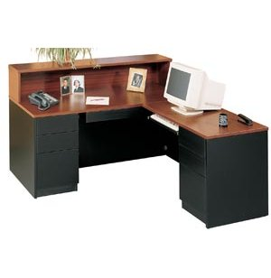 Milan L-Shaped Reception Desk, Right