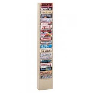 20-Pocket Wall Mounted Literature Organizer