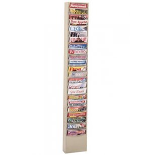 23-Pocket Wall Mounted Literature Organizer