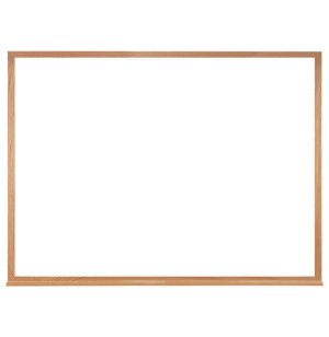 Economy Whiteboard with Wood Frame