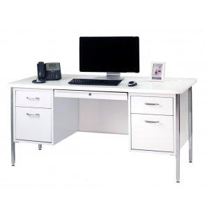 Double Pedestal Metal Teachers Desk