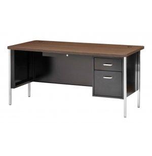 Single Pedestal Metal Teachers Desk