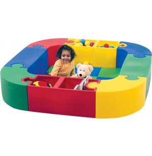 Puzzle Play and Reading Center w/ Mat- 8 Interlocking Pieces