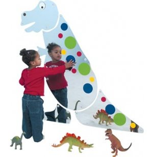 Friendly T-Rex Preschool Mirror