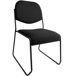 Commercial Sled-based Fabric Stacking Chair