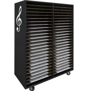 Mobile Music Folio Cabinet - 48 Shelves