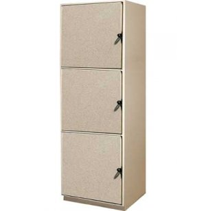 Instrument Locker - 3 Compartments, Solid Doors