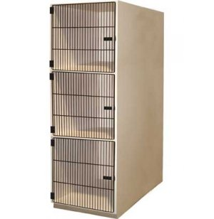 Instrument Locker - 3 Extra Deep Compartments, Grille Doors