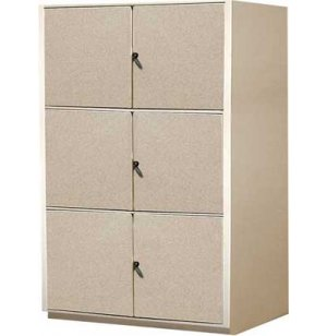 Instrument Locker - 3 XL Compartments, Solid Doors