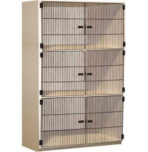 Instrument Locker - 3 XL Compartments, Grille Doors