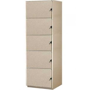 Instrument Locker - 5 Compartments, Solid Doors