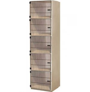 Instrument Locker - 5 Compartments, Grille Doors