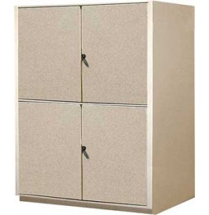 Instrument Locker - 2 XL Compartments, Solid Doors
