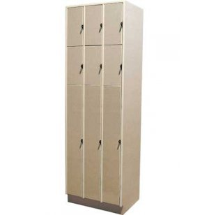 3 Guitar Storage and 6 Instrument Lockers - Solid Doors