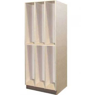 Acoustic Guitar Storage - 6 Open Compartments