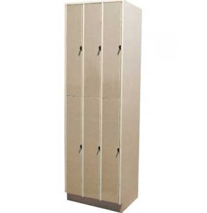 Acoustic Guitar Storage - 6 Compartments, Solid Doors