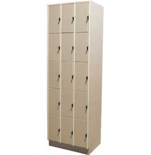 15 Equal Compartments Solid Doors