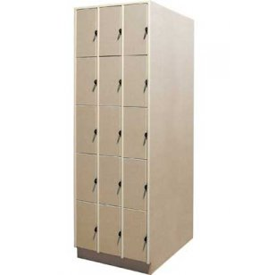 Instrument Locker - 15 Compartments, Solid Doors