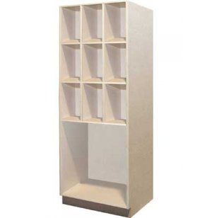 Music Instrument Storage - 9 Equal Open Compartments, 1 Lg
