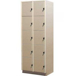 10 Equal Compartments Solid Doors
