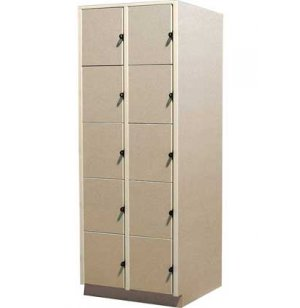 Instrument Locker - 10 Extra Deep Compartments, Solid Doors