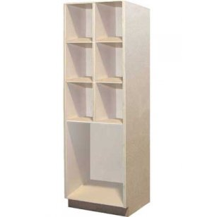 Music Instrument Storage - 6 Equal Open Compartments, 1 Lg