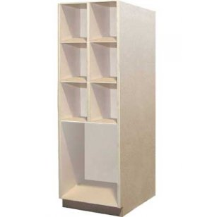 Music Instrument Storage - 6 Extra Deep Open Shelves, 1 Lg