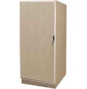 1 Small Compartment over 1 Large Compartment Solid Door