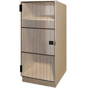 1 Small Compartment over 1 Large Compartment Grille Doors