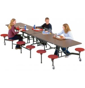Stow-Away Cafeteria 12 Stool Table, Painted