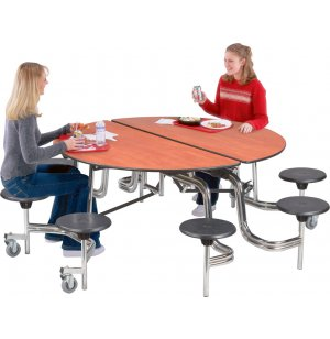 Stow-Away Round Table, Chrome Frame