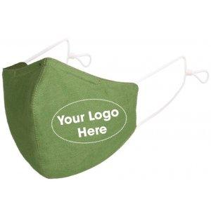 Custom Logo Washable Fabric Mask, Case of 50