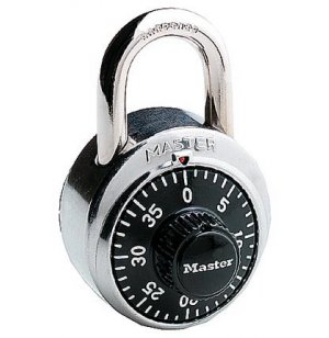 High-Security Keyed Combination Padlock w/Short Shackle