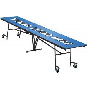 Stow-Away Folding Rectangular Cafeteria Table