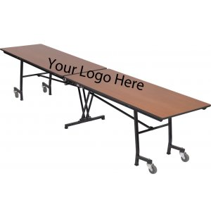 Stow-Away Folding Rectangular Cafeteria Table