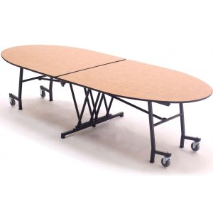 Stow-Away Mobile Oval Table