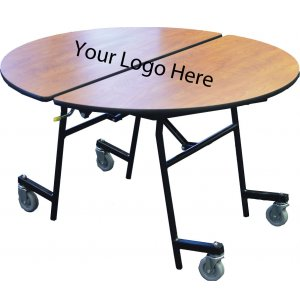 Stow-Away Folding Round Cafeteria Table