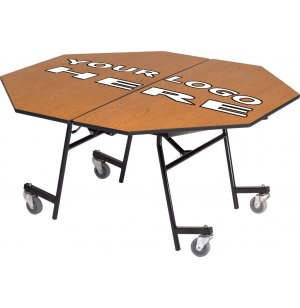 Stow-Away Folding Octagon Cafeteria Table